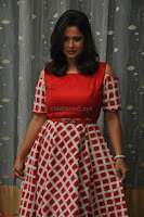 Shilpa Chakravarthy looks super cute in Red Frock style Dress 026.JPG