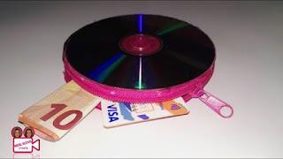 Dompet Unik dari CD Bekas Buatan Sendiri