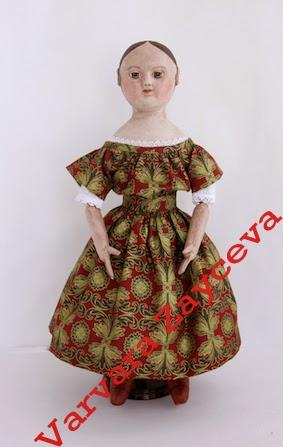 Изанна Уокер, Civil War era, antique doll, Izannah Walker, IzannahRu, reproduction doll, Svetlana Lukina, American cloth doll, primitive doll, Светлана Лукина