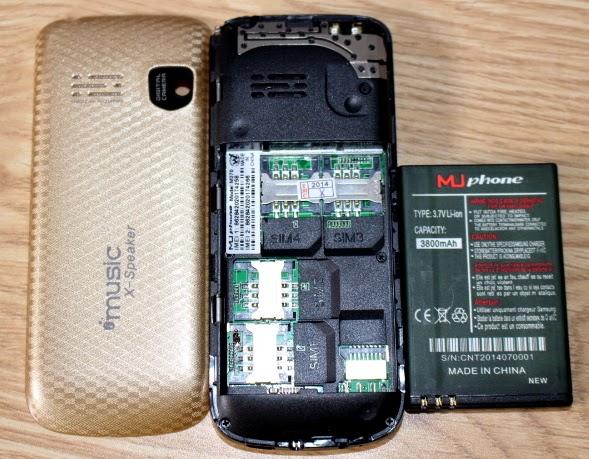Muphone m270 với 4 khe sim
