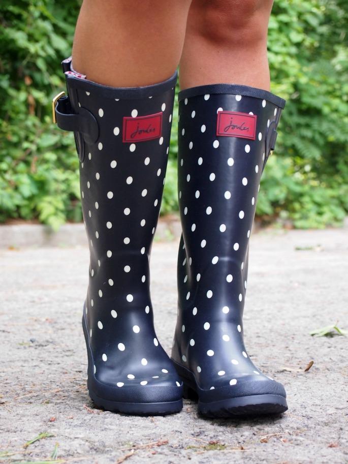 Navy Polka Dot Rain Boots Bsrjc Boots