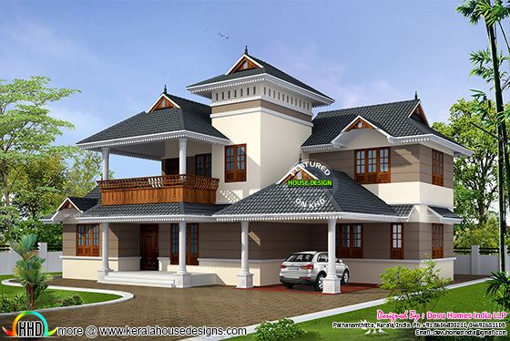 Traditional House With Modern Mix Kerala Home Design