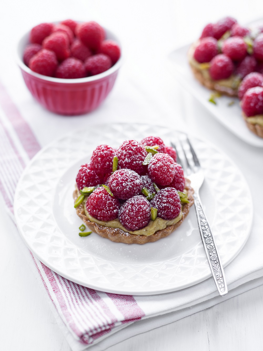 BerryWorld Raspberry And Pistachio Tarts