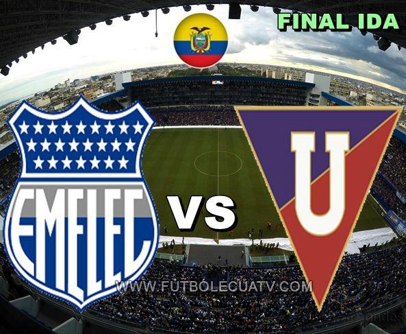"""Emelec se enfrenta a Liga de Quito en vivo desde las 20:00 horario designado por la FEF a jugarse en el estadio George Capwell de Guayaquil por la final ida del campeonato ecuatoriano, siendo el árbitro principal a denominar luego con transmisión del canal """"autorizado"""" GolTV."""