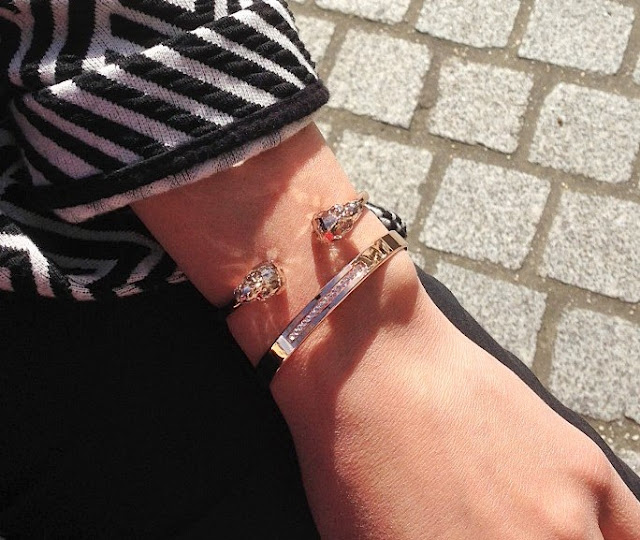Bracelets joncs Les Interchangeables en or rose