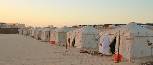 El magnífico Khor Al-Adaid o el Mar Interior de Qatar. Campamento en el desierto