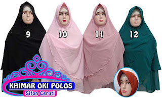 Jilbab khimar syar'i polos oki terbaru dan murah