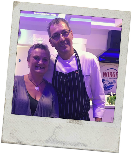 foodblogger madmumof7 with Michelin starred chef Daniel Galmiche