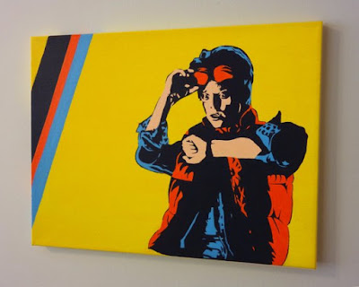 Back to the Future Marty McFly Pop Art Acrylic Painting