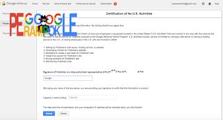 Aktivasi submit tax google adsense