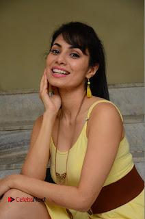 Actress Manisha Kelkar Latest Picture Gallery in Yellow Short Dress  0136.JPG