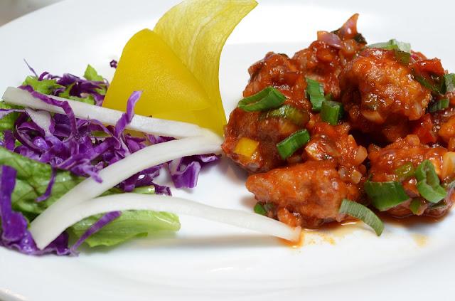 Paneer Manchurian Recipe - Dry, Spicy Chinese Paneer Manchurian