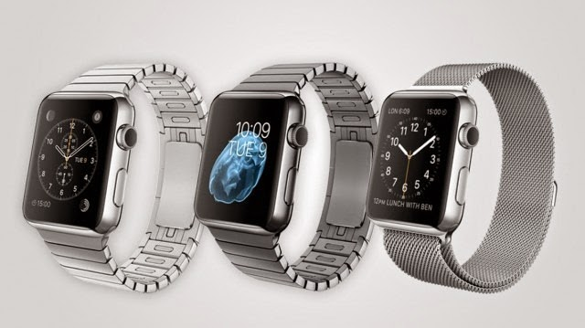 Apple Watch offers classic stainless steel or space black stainless steel.