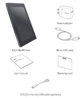 ASUS MeMO Pad manual PDF download (English)