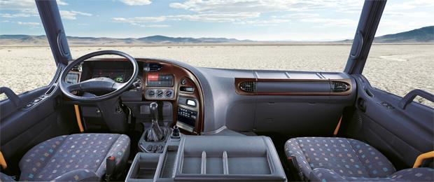 Nội thất xe trộn bê tông Hyundai HD270 rộng dãi thoải mái và tiện nghi