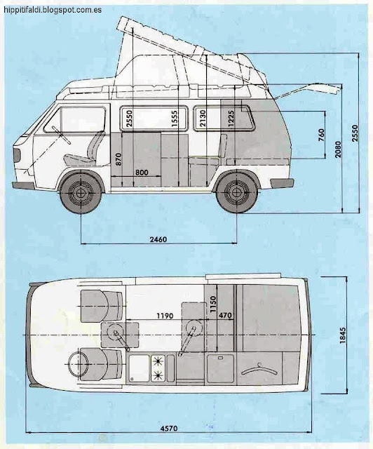 medidas varias sobre la t3 t25 vanagon. Black Bedroom Furniture Sets. Home Design Ideas