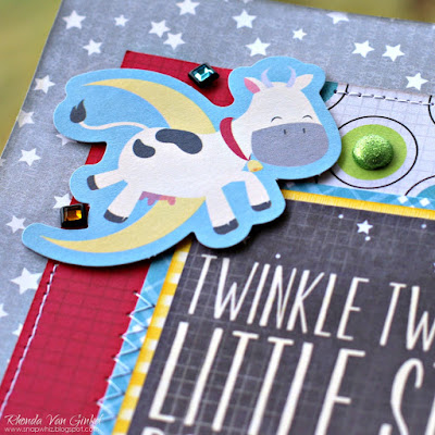 Twinkle Twinkle Little Star Page featuring Toy Box by BoBunny designed by Rhonda Van Ginkel