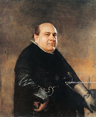 photomontage-classic painting-Danny DeVito