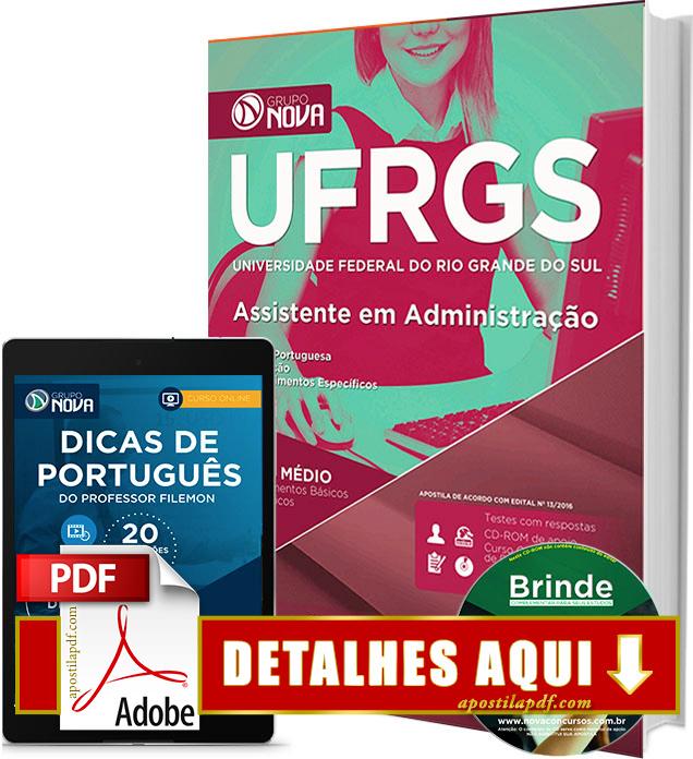Apostila UFRGS 2016 Assistente em Administração Impressa