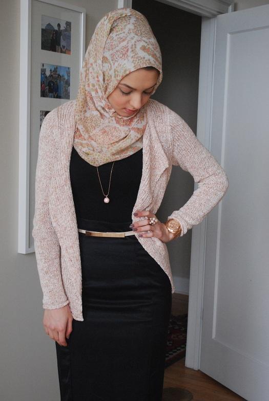 Tight skirt hijab