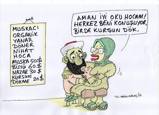 muskacı hoca karikatür