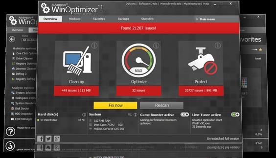 Ashampoo WinOptimizer 11+Registration Key Free Download