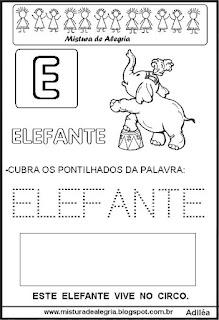 Bichonário desenho de elefante