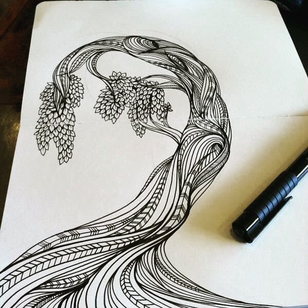 09-Moleskine-Tree-hello_zenart-Different-Styles-and-uses-for-the-Zentangle-Pattern-www-designstack-co
