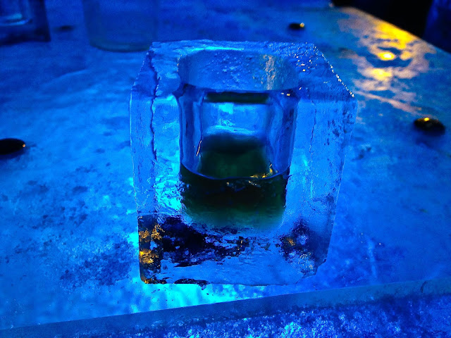 Liverpool ice bar glass