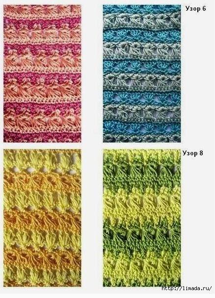 4 modelos de puntos al crochet