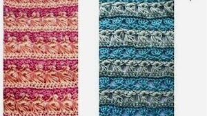 4 puntos novedosos al crochet