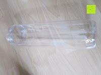 Flasche: 800ml Trinkflasche für Fruchtschorlen / Gemüseschorlen in den Farben Grün, Lila, Blau und Rot. Perfekte Sportflasche aus spülmaschinenfesten Tritan-Material mit extra-easy Trinkverschluss