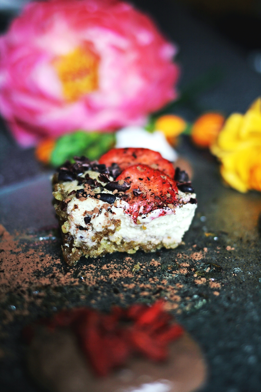vegan cheesecake low in fat high protein fitness food