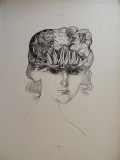 Modest Cuixart litografía mujer