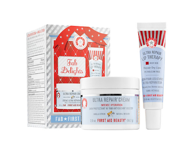 First Aid Beauty, First Aid Beauty Vanilla Citron Ultra Repair Cream, beauty giveaway, A Month of Beautiful Giveaways, First Aid Beauty FAB Delights gift set, First Aid Beauty Ultra Repair Lip Therapy Rosy Red
