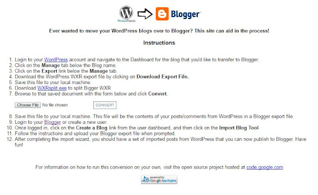 wordpress to blogger converter
