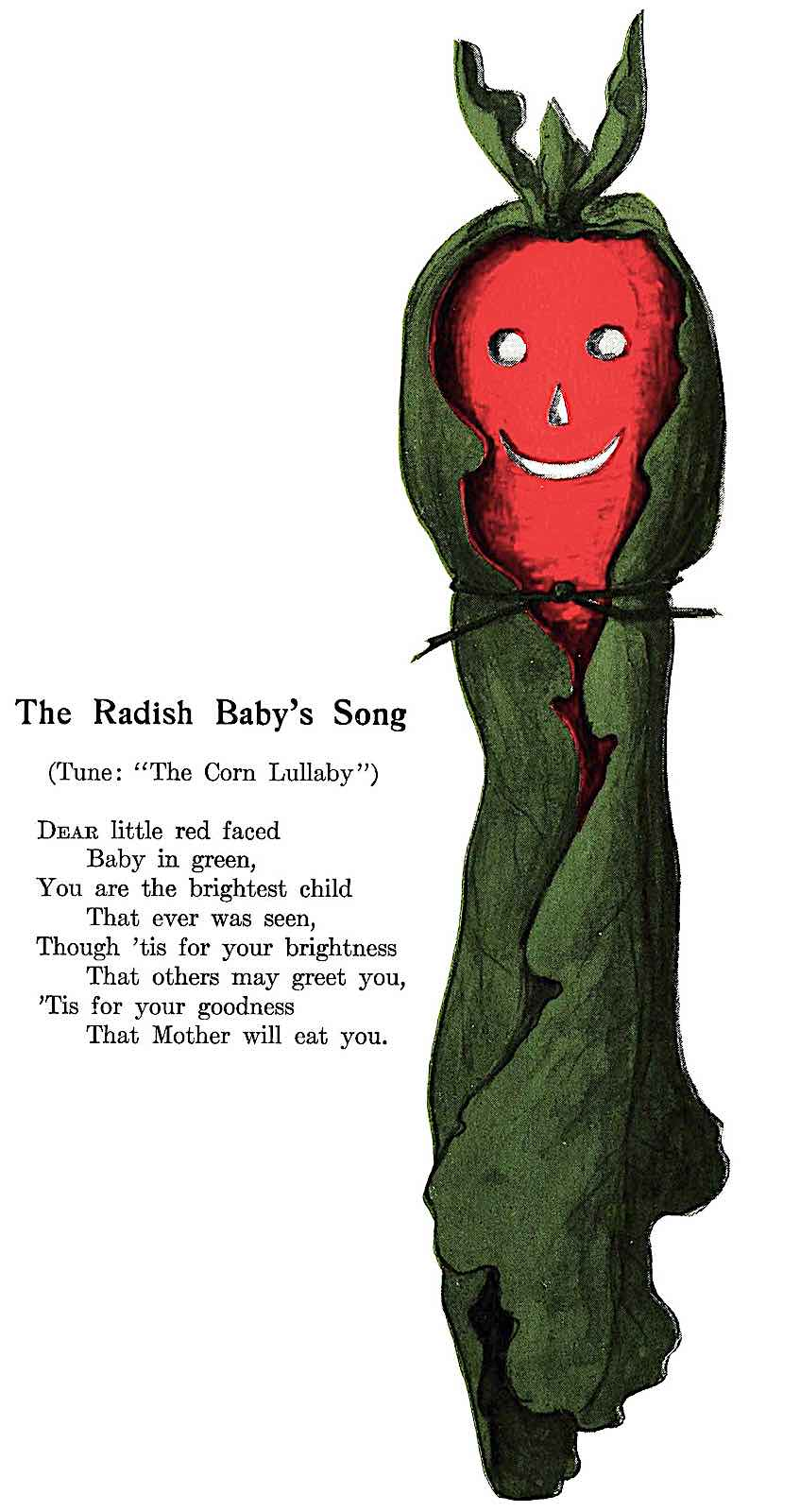 a 1906 home made Radish Baby toy