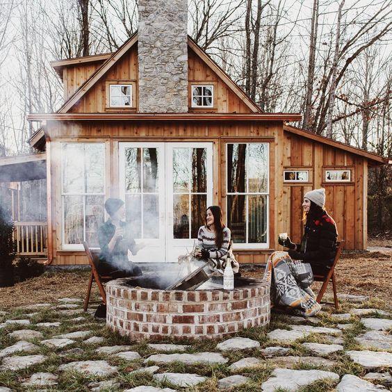 Reclaimed brick tile blog for Brick cabin
