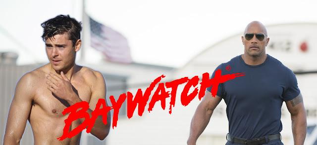 dwayne the rock johnson zac efron baywatch