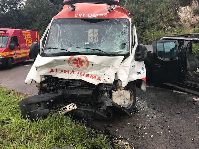 Grave acidente envolvendo viatura do SAMU santa luzia deixa 8 vítimas na BR 381