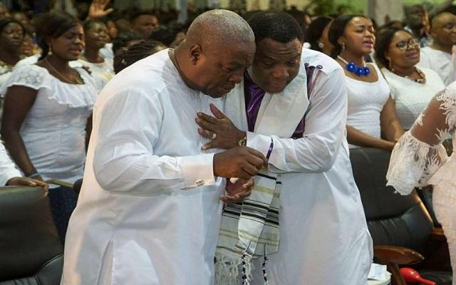 President John Mahama (L) and Rev. Sam Korankye Ankrah (R)