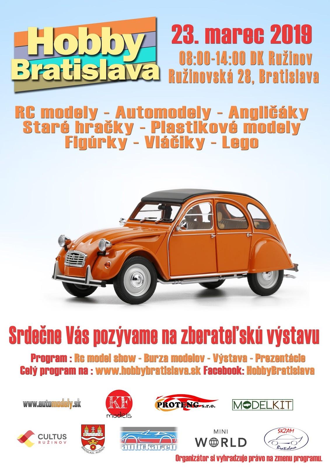 HobbyBratislava 2019 vystava burza plagat