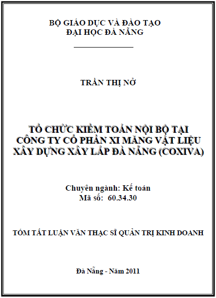 Tổ chức kiểm toán nội bộ tại Công ty Cổ phần xi măng vật liệu xây dựng xây lắp Đà Nẵng (Coxiva)