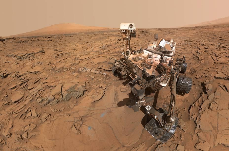 O planeta Marte, em imagens captadas pela sonda Curiosity (/Nasa)