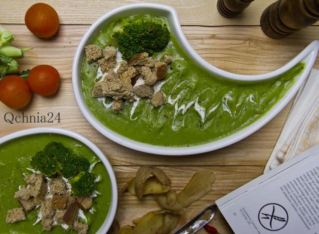 zupa z brokułów z grzankami bezglutenowymi