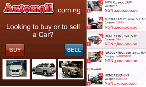 automall nigeria buy sell cars online