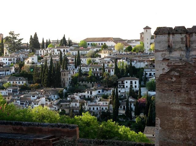 Bairro Albaicín em Granada