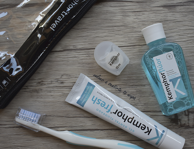 Neceser de Kemphor: cepillo, pasta, flúor e hilo dental