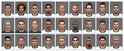 PES 2016 FACEPACK GERMANY EURO 2016 (27 Players)