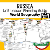 Russia geography lesson plans, world geography lesson plans, geography activities, world geography games, world geography middle school, world geography high school